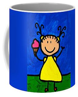 Happi Arte 3 - Little Girl Ice Cream Cone Art Coffee Mug