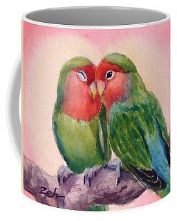 Happiness Forever Lovebirds Coffee Mug