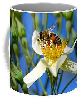 Coffee Mug featuring the photograph Happy Bee by George Atsametakis