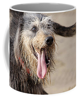 Happy Dog On A Beach Coffee Mug