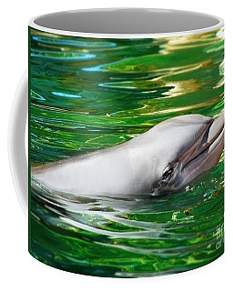 Happy Dolphin Coffee Mug by Kristine Merc