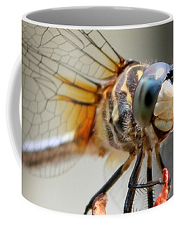 Coffee Mug featuring the photograph Happy Dragonfly by William Selander