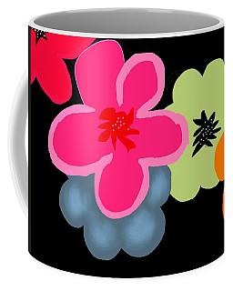 Coffee Mug featuring the digital art Happy Flowers Pink by Christine Fournier