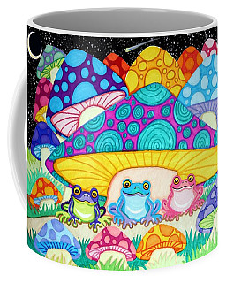 Happy Frogs In The Starlight  Coffee Mug