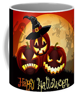 Coffee Mug featuring the painting Happy Halloween by Gianfranco Weiss