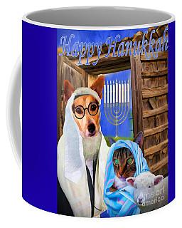 Coffee Mug featuring the digital art Happy Hanukkah  - 2 by Kathy Tarochione