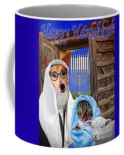 Coffee Mug featuring the digital art Happy Hanukkah -1 by Kathy Tarochione