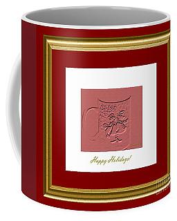 Coffee Mug featuring the digital art Happy Holidays. Classic by Oksana Semenchenko