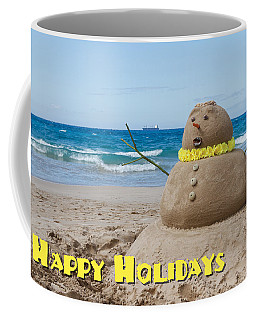 Happy Holidays Sandman Coffee Mug
