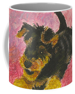 Coffee Mug featuring the painting Happy by Jeanne Fischer