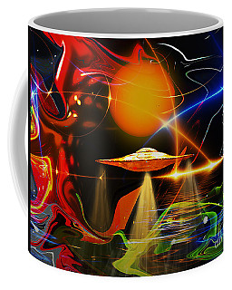 Coffee Mug featuring the digital art Happy Landing by Eleni Mac Synodinos
