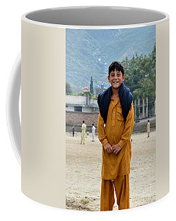 Coffee Mug featuring the photograph Happy Laughing Pathan Boy In Swat Valley Pakistan by Imran Ahmed