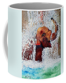 Coffee Mug featuring the painting Happy Packy by Diane DeSavoy