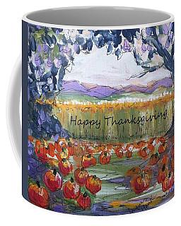 Happy Thanksgiving Greeting Card Coffee Mug