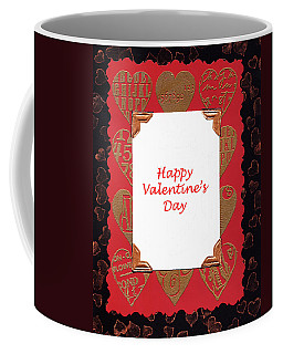 Coffee Mug featuring the photograph Happy Valentines Day Card by Vizual Studio