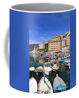 harbor in Camogli - Italy Coffee Mug by Antonio Scarpi