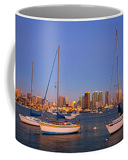 Harbor Sailboats Coffee Mug