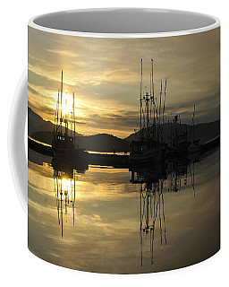 Coffee Mug featuring the photograph Harbor Sunset by Cathy Mahnke