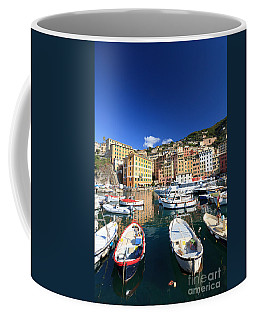 Coffee Mug featuring the photograph Harbor With Fishing Boats by Antonio Scarpi