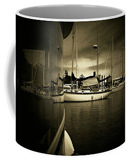 Coffee Mug featuring the photograph Harbour Life by Micki Findlay