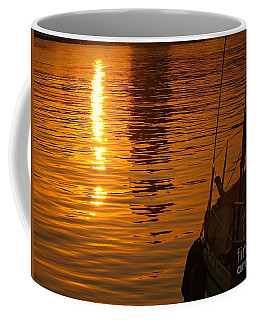 Harbour Sunset Coffee Mug by Clare Bevan