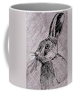 Hare On Burlap Coffee Mug