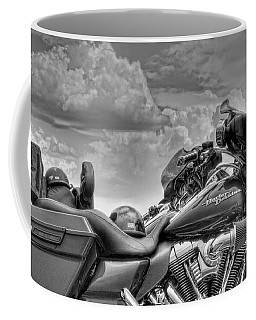 Harley Black And White Coffee Mug by Ron White