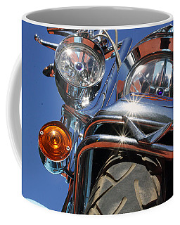 Coffee Mug featuring the photograph Harley Close Up by Shoal Hollingsworth