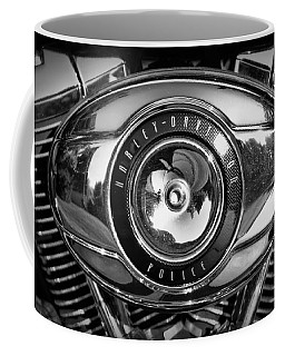 Harley-davidson Police B And W Coffee Mug