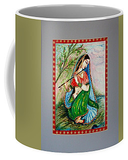 Coffee Mug featuring the painting Harmony by Harsh Malik