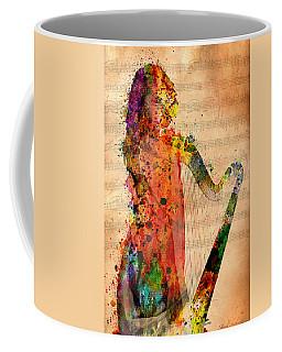 Harp Digital Art Coffee Mugs