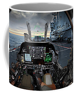 Harrier Cockpit Coffee Mug by Paul Fearn
