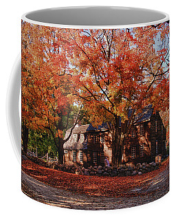Coffee Mug featuring the photograph Hartwell Tavern Under Canopy Of Fall Foliage by Jeff Folger
