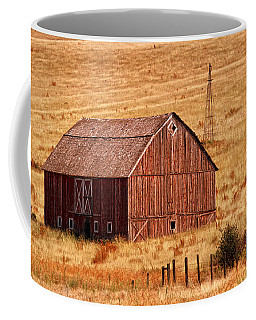 Coffee Mug featuring the photograph Harvest Barn by Mary Jo Allen