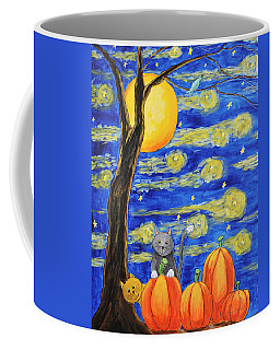 Harvest Moon Over The Pumpkins Coffee Mug