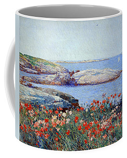 Hassam's Poppies On The Isles Of Shoals Coffee Mug by Cora Wandel