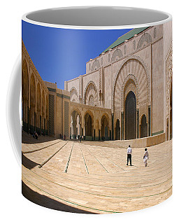 Coffee Mug featuring the photograph Hassan II Mosque Grand Mosque Sour Jdid Casablanca Morocco by Ralph A  Ledergerber-Photography