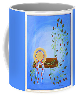 Hat On A Swing Coffee Mug by Ron Davidson
