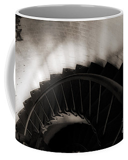 Coffee Mug featuring the photograph Hatteras Staircase by Angela DeFrias