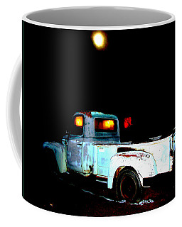 Coffee Mug featuring the digital art Haunted Truck by Cathy Anderson