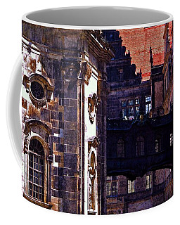 Coffee Mug featuring the photograph Hausmann Tower In Dresden Germany by Jordan Blackstone