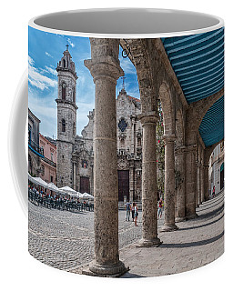 Havana Cathedral And Porches. Cuba Coffee Mug