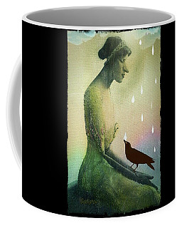 Coffee Mug featuring the digital art have I seen you here before? by Delight Worthyn