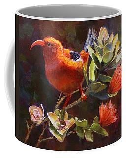 Hawaiian IIwi Bird And Ohia Lehua Flower Coffee Mug