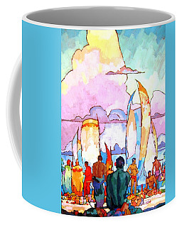 Coffee Mug featuring the painting Hawaiians by Pg Reproductions