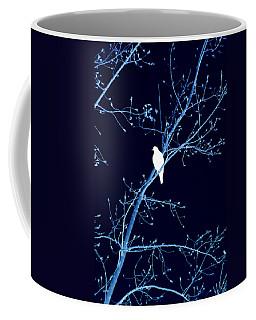 Hawk Silhouette On Blue Coffee Mug