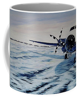 Coffee Mug featuring the painting Hawker - Airplane On Ice by Marilyn  McNish