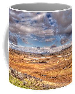 Hayden Valley Bison On Yellowstone River Coffee Mug