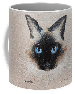 Coffee Mug featuring the drawing Hayley by Jamie Frier