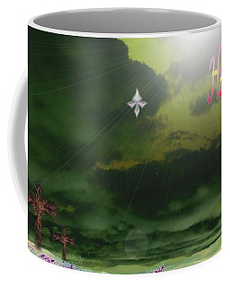 Coffee Mug featuring the painting He Is Risen by Mike Breau